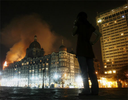 Taj Mahal Hotel on Fire